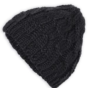 Accessories - THE PERFECT LACE KNIT SLOUCH BEANIE (BLACK)